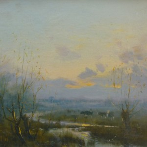 X (SOLD) Evening over the Marshes
