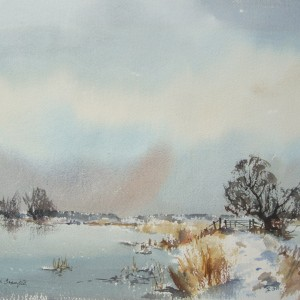 X (SOLD) Winter Marsh