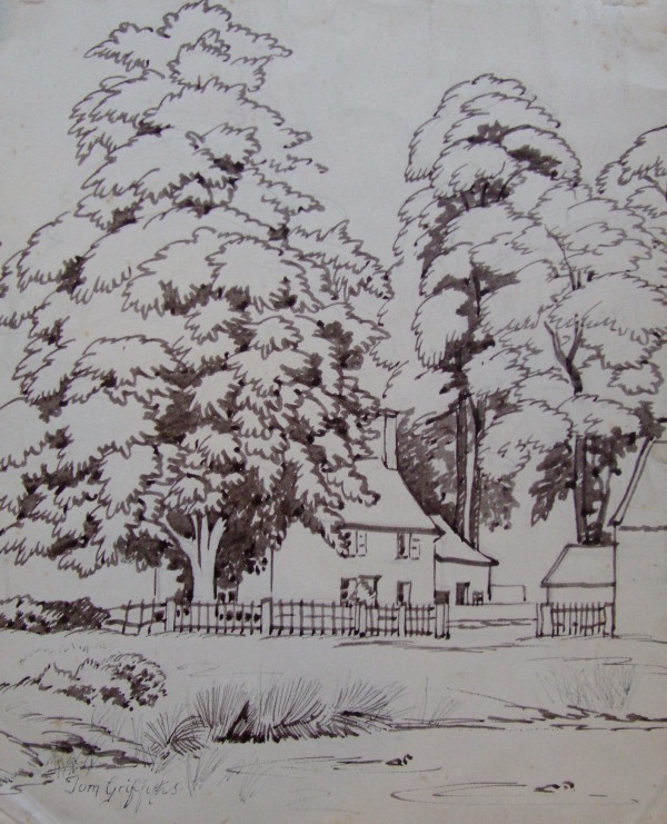 X12 (SOLD) Cottage and Trees