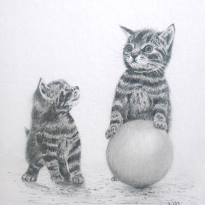 Kittens and Ball