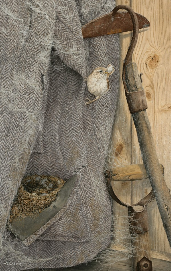 X (SOLD) Feathering the nest (Wren)