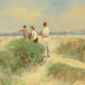 On Southwold Beach (The Artist's Family)
