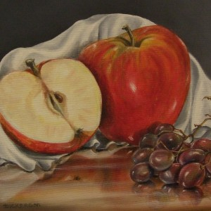 Fruit: Apples, Cloth and Grapes