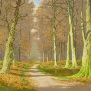 Autumn Woods (dated 1976)