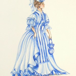 Edwardian Elegance: Lady in Blue