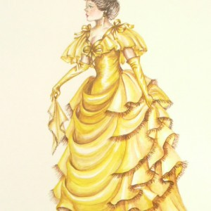 Edwardian Elegance: Lady in Yellow