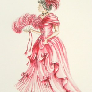 Edwardian Elegance: Lady in Red I