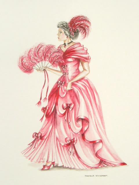 Edwardian Elegance: Lady in Red I