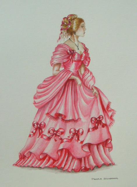 Edwardian Elegance: Lady in Red III