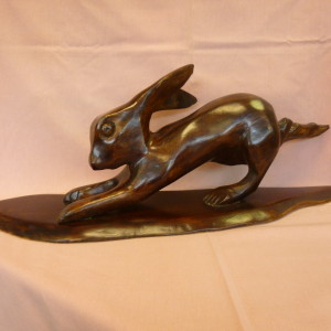 Hare running (Walnut) no 1