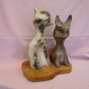 Pair of Cats no 1 (Mixed Woods)