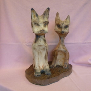 Pair of Cats no2 (Mixed Woods)