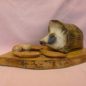 X (SOLD) Hedgehog in Autumn (Sycamore) (no1)