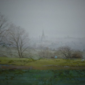 X (SOLD) Misty morn in January, Mousehold