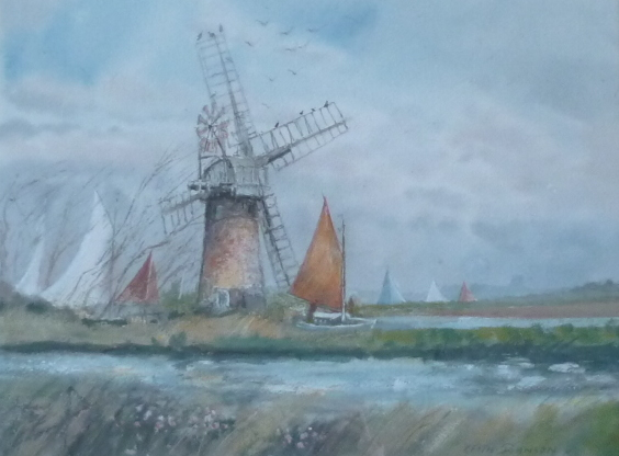 X (SOLD) The Red Sail,Thurne