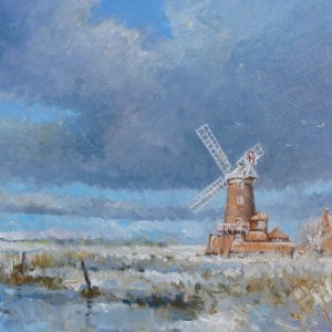Cley Mill in the snow