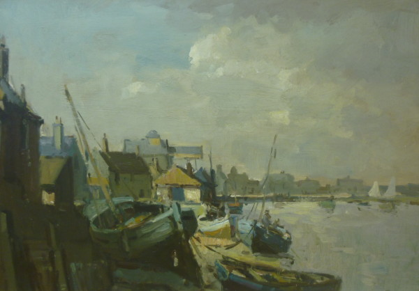 Evening light, Wells Harbour (early work)