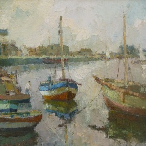 X30 (SOLD) Fishing boat at Wells Harbour (early work)