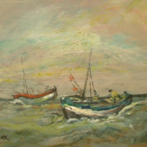 Fishing Boats at Sea