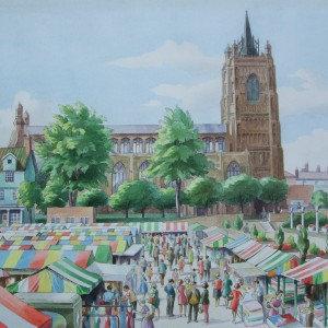 X02 (SOLD) The back of Norwich Market, Tom Griffiths