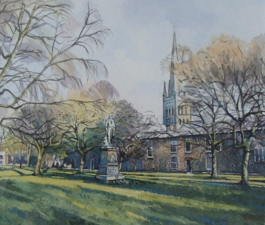 X (SOLD) Norwich Cathedral Close, Tim Ball