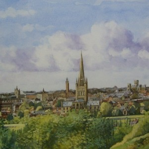 X16 (SOLD) Norwich from Mousehold,  Tim Ball