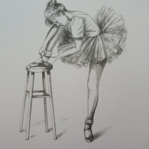 X13 (SOLD) Ballet – Little Ballerinas : The Adjustment 1