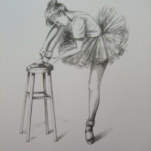 X13 (SOLD) Ballet – Little Ballerinas : The Adjustment 1