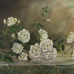 X04 (SOLD) White Roses