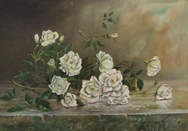 X04 (SOLD) White Roses