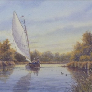 X(SOLD) An Autumn Sail
