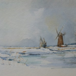 X (SOLD) Winter at Ludham Mill, 1976