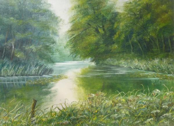 "Scenes – Reflections ""1"" Lake at East Bilney, Norfolk"