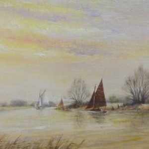 X(SOLD) Evening on the Broads
