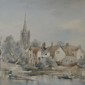 X (SOLD) Norwich Cathedral from Fishergate 1972