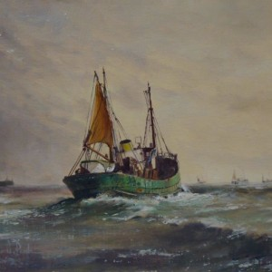 X (SOLD) Trawlers leaving Port