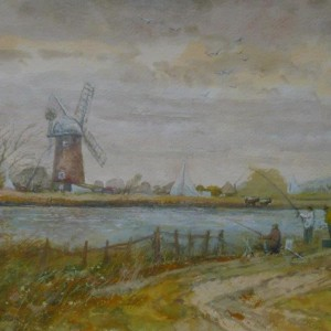 (unframed) Fishing Match, Thurne, Norfolk