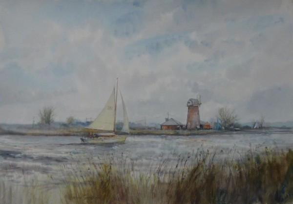 ( unframed) Waterways, Upton, Norfolk