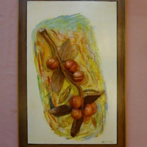Wood Relief Panel (Lime) The Plum Tree