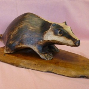 X (SOLD) Badger (no 1) (Lime)