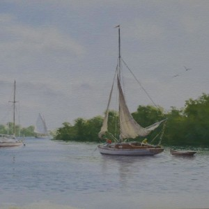 X (SOLD) Quiet Corner at Wroxham Broad