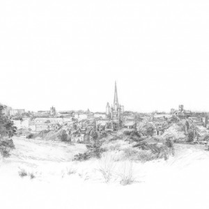 """Norwich Panorama from Mousehold (Signed """"Giclee"""" Print)"""