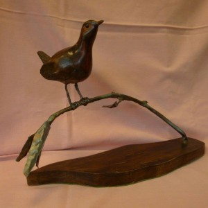 X (SOLD) Robin on a Briar (Walnut)