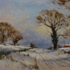 X65 (SOLD) Norfolk Country Road in Winter