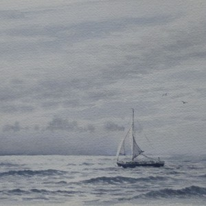 X (SOLD) Sailing in open waters