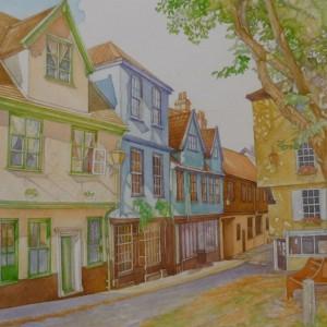 """""""Dappled Sunlight"""", Elm Hill, Norwich"""