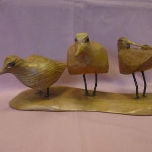 X (SOLD) Three Wading Birds (Elm)