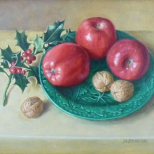 Walnuts and Red Apples