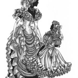 """Edwardian Elegance – """"The Party Dress""""  original not for sale (signed print can be  available)"""