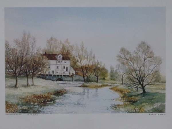 Signed Print – Elsing Mill in Winter